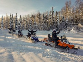 Snow Mobile Tours in Alaska with Snowhook Adventure Guides